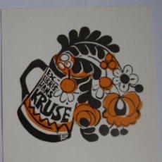 Arte: .303 EX-LIBRIS EXLIBRIS BOOKPLATE PARA FRANS KRUSE. FLORES JARRA DE CERVEZA. Lote 133289238