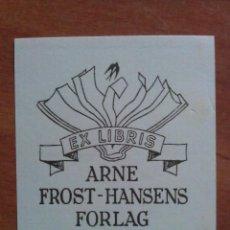 Arte: EX LIBRIS : ARNE FROST - HANSENS FORLAG. Lote 133553554