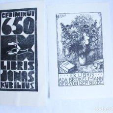 Arte: .331 LOTE DE 6 EX-LIBRIS EXLIBRIS BOOKPLATES. Lote 133652890