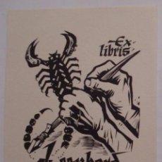 Arte: .335 EX-LIBRIS EXLIBRIS PARA LEONHARD FEICHTINGER. MANO ESCORPIÓN. Lote 133720910