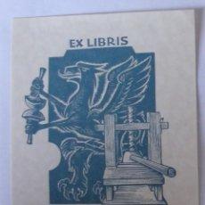 Arte: .339 EX-LIBRIS EXLIBRIS FRANZ STUMMVOLL. GRIFO IMPRENTA. Lote 133722986