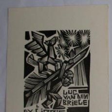 Arte: .341 EX-LIBRIS EXLIBRIS BOOKPLATE LEWANDOWSKI, 1980. HOMBRE PEGASO PLUMA. Lote 133951610