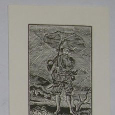 Arte: .345 EX-LIBRIS EXLIBRIS BOOKPLATE PARA U. REINHOLD. ROBINSON CRUSOE. Lote 133951810