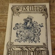Arte: ANTIGUO EX LIBRIS DE EDUARDO DE YBARRA. Lote 134325166