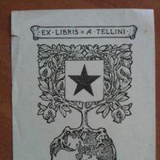 Arte: EX LIBRIS A. TELLINI. Lote 134973970