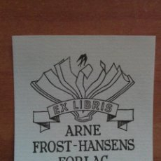 Arte: EX LIBRIS ARNE FROST - HANSENS FORLAG. Lote 135321818