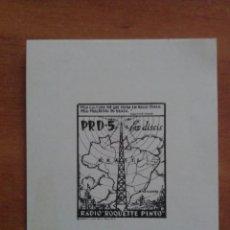 Arte: EX DISCIS RADIO ROQUETTE PINTO. Lote 135340166