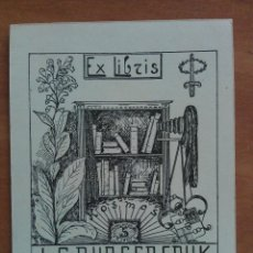 Arte: EX LIBRIS J. F. BURGERSDUK. Lote 135340550