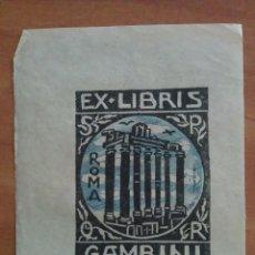 Arte: EX LIBRIS GAMBINI. Lote 135341146