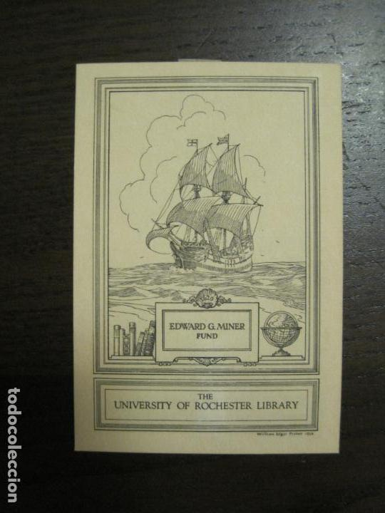 EX LIBRIS - EDWARD G  MINER FUND - WILLIAM EDGAR FISHER - VER FOTOS -  (X-2277)