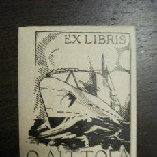 Arte: EX LIBRIS - O. AITTOLA - G.N. - VER FOTOS - (X-2322). Lote 137995958