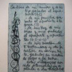 Arte: CARPETA EXLIBRIS P. SABADEL, PUBL. LUIS BARDÓN. VALLADOLID, 1962. 9 AGUAFUERTES Y 3 XILOGRAFÍAS. Lote 138261090