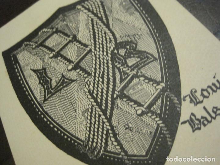 Arte: EX LIBRIS - LOUIS BALSAN - VER FOTOS - (X-2386) - Foto 2 - 138608514
