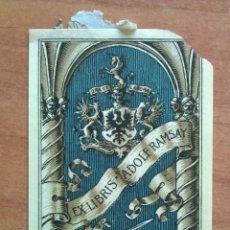 Arte: EX LIBRIS ADOLF RAMSAY - 1911 ?. Lote 138672714