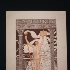 Arte: EXLIBRIS DE ALEXANDRE CARDUNETS CAZARLA (BARCELONA 1871-BADALONA 1944) PARA JOSEP MONSALVATJE.. Lote 138779006