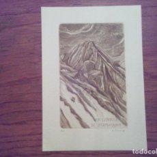 Arte: O.42 EX-LIBRIS EXLIBRIS BOOKPLATE VIKTOR CHRENKO, 1988. MONTAÑA MONTES TATRA ESLOVAQUIA. Lote 140398490