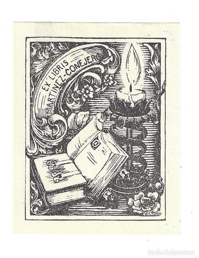 EX- LIBRIS.- MARTINEZ CONEJERO. DIBUJADO POR VICTORIO (Arte - Ex Libris)