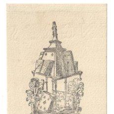 Arte: EX- LIBRIS.- FRANCISCO GARCÍA. DIBUJADO POR RIGOBERTO G. ARCE. BURGOS- 1946. Lote 141227142