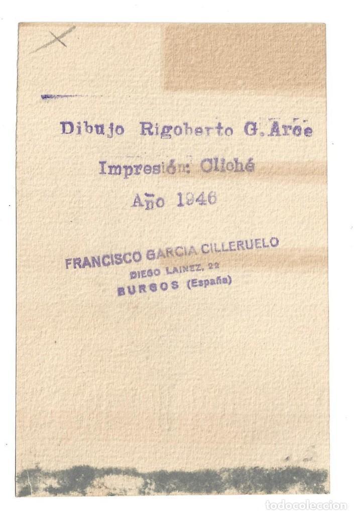 Arte: EX- LIBRIS.- FRANCISCO GARCÍA. DIBUJADO POR RIGOBERTO G. ARCE. BURGOS- 1946 - Foto 2 - 141227142