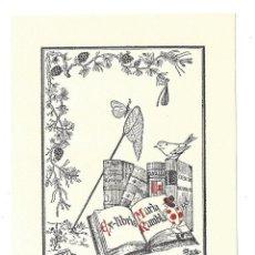 Arte: EX- LIBRIS.- MARIA RAMBLA. DIBUJADO POR MR. - 1942. Lote 141236702