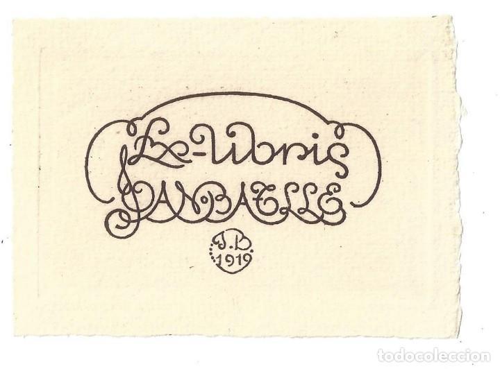 EX- LIBRIS.- JOAN BATLLE. MODERNISTA- 1910 (Arte - Ex Libris)