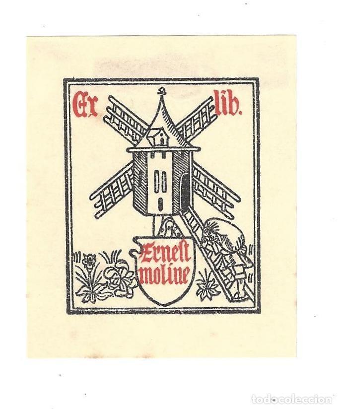 EX- LIBRIS.- ERNEST MOLINE. DIBUJADO POR CANIBELL- AÑOS 20 (Arte - Ex Libris)