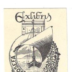 Arte: EX- LIBRIS.- JUAN ABADAL CASTELLS. DIBUJADO POR MARIANO CASTELLS- 1918. Lote 141803126