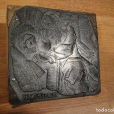 Arte: TROQUEL PLACA DE IMPRENTA - EXLIBRIS DE FRANCISCO AZORIN - SIN FIRMA - CLISES HERALDO , ZARAGOZA. Lote 142458918