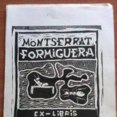Arte: EX LIBRIS GRABADO POR LAS DOS CARAS. Lote 143000210
