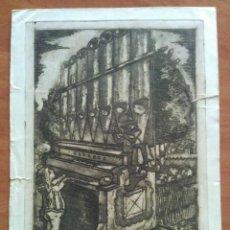 Arte: EX LIBRIS MUSICAE - AGUAFUERTE DE J . COROMINAS / PARA IOR DI MONTSALVATGE. Lote 143011862