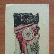 Arte: 1918 EX LIBRIS - JOSEP MONTSALVATJE. Lote 143030162