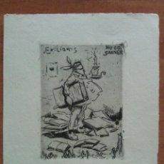 Arte: EX LIBRIS DE RUD HESSE A HUGO SANNER. Lote 143031482