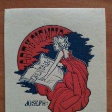 Arte: EX LIBIRS JOSEP MONSALVATJE - RIQUER?. Lote 143048510