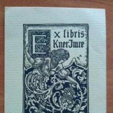 Arte: EX LIBRIS 1912 RICHARD GEYGER PARAKNER IMRE. Lote 143049146
