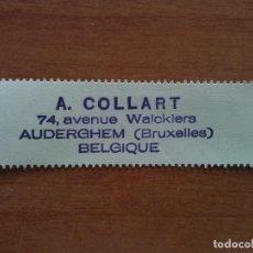 Arte: EX LIBRIS A. COLLART - BRUXELLES. Lote 143050286