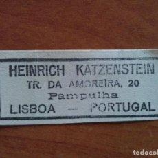 Arte: EX LIBRIS HEUNRICH KATZENSTEIN - LISBOA. Lote 143050366