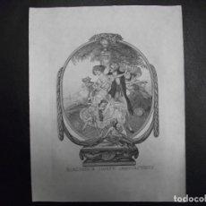 Arte: EX LIBRIS PARA LA BIBLIOTECA DE JOSEPH MONSALVATJE EXLIBRIS HELIOGRABADO POR FRANZ VON BAYROS. Lote 143635756