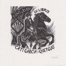 Arte: EX-LIBRIS DE ORIOL Mª DIVI PARA CATI GARCIA I QUETGLAS - 1997 - (FIRMAT A LLAPIS). Lote 143683750