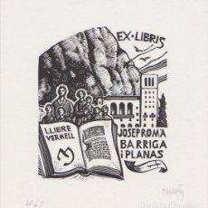 Arte: EX-LIBRIS DE ORIOL Mª DIVI PARA JOSEP ROMÀ BARRIGA I PLANAS - 1998 - (FIRMAT A LLAPIS) . Lote 143687994