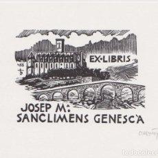 Arte: EX-LIBRIS DE ORIOL Mª DIVI PARA JOSEP Mª SANCLIMENS GENESCÀ - 1998 - (FIRMAT A LLAPIS) . Lote 143688154