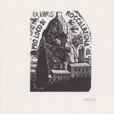 Arte: EX-LIBRIS DE ORIOL Mª DIVI PARA A. ARRIGONI - 1997 - (FIRMAT A LLAPIS) . Lote 143688274