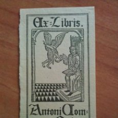 Arte: EX LIBRIS . ANTONI COMPANYS. Lote 144105878