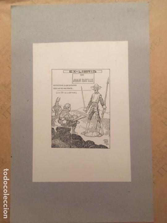 EX LIBRIS JOAN BATLLE, 1922, L BRU NET (Arte - Ex Libris)