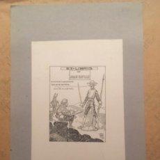 Arte: EX LIBRIS JOAN BATLLE, 1922, L BRU NET. Lote 144649798