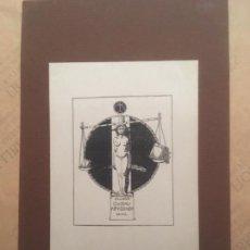 Arte: EX LIBRIS CUSTAV KEYSSNER, DR PHIL. Lote 144650342