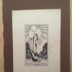 Arte: EX LIBRIS KNER IMRE KONTYTARABOL, GEIGER RICHARD. Lote 144650454