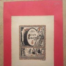 Arte: EX LIBRIS JOAN BAUCIS, A BULBENA, 1911. Lote 144650606