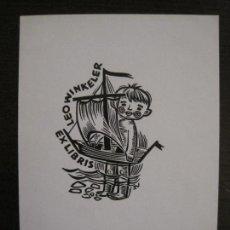 Arte: EX LIBRIS-LEO WINKELER-VER FOTOS-(X-2415). Lote 146284398