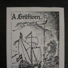 Arte: EX LIBRIS-A.GRIFFIDEN-VER FOTOS-(X-2424). Lote 146286354