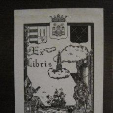 Arte: EX LIBRIS-J.BRAEKEN-VER FOTOS-(X-2427). Lote 146287206
